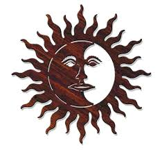 metal moon wall art full size of sun hanging and
