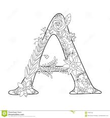 letter a coloring book for s vector