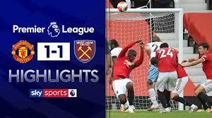 Man united 1 west ham 1. Man Utd 1 1 West Ham Match Report Highlights