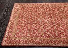 rugsville loop rust tribal wool rug 11980