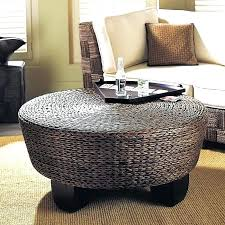sophisticated wicker ottoman coffee table taptotrip me elegant round rattan with regard to 7