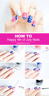 Happy 4th of July Nail Art - Tutorial