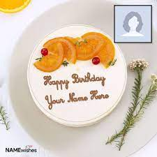 birthday cake with name and photo