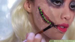 image led apply zombie makeup step 5