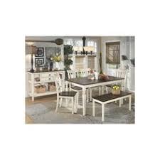 whitesburg rectangular dining room table 4 side chairs and bench