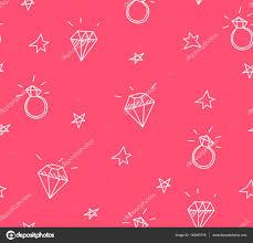 Vektor Bezešvé Vzor Snubní Prsteny Hvězdy A šperky Stará škola