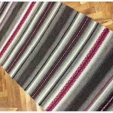 handwoven rug handwoven wool rug with two handwoven pillows handwoven striped rug home decor handwoven rug with 2 pillow covers