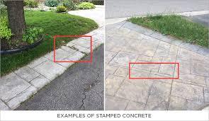 concrete pavers vs stamped concrete