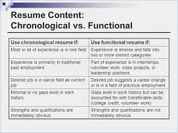 Chronological And Functional Resume Newest Cwicars Com