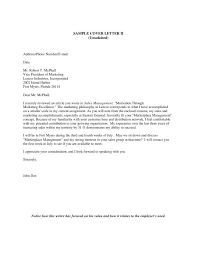 Unsolicited Cover Letter Example Everything Of Letter Sample