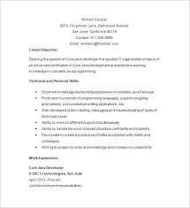 Web Developer Resume Objective Software Examples Ideas Java 27963