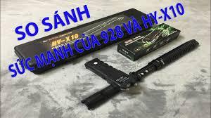 So sánh SỨC MẠNH của Kìm Điện 928 USA và Đèn Pin Gậy Điện HY-X10 - YouTube