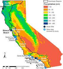 California Regions Map Of California Showing The 4 Coastal Hydrologic Regions