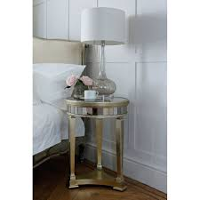glass bedside table. Cherbourg Glass Bedside Table