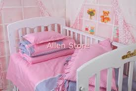 100 cotton baby crib per sets baby bed covers toddler kids crib cot bedding