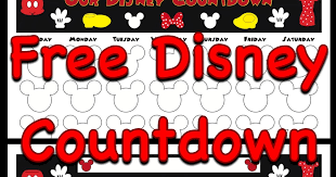 Disney Countdown Calendar Template Printable Disney Countdown ...