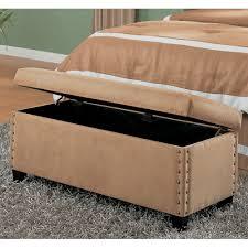 coaster upholstered storage bench beige  walmartcom
