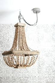 how to replace chandelier how to hang a plug in chandelier gorgeous wood bead chandelier in