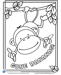 Monkey Coloring Pages Monkey Coloring Page 26 Free Printable