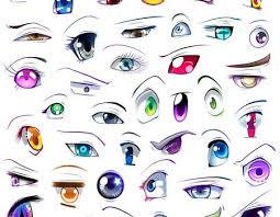 anime eyes color. Plain Color Colored Anime Eyes In Color C
