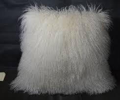 Mongolian fur pillows Couch 50 Etsy 20 Mongolian Lamb Fur Pillow Natural White 20x20 Etsy
