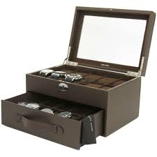 20 watch box storage case leather brown in boxes for 12 to 24 watches 20 watch box storage case leather brown