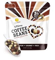 Just pure goodness in a steaming cup. Happy Bites 3 Flavor Covered Coffee Beans Bulk Party 5 Lb Bag Eat Play Happy