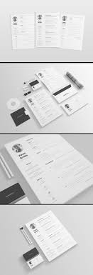 Clean And Minimal Resume Template Cover Letter Ai Omahpsd