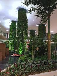 artificial vertical gardens provide much needed greenery indoors
