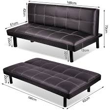 3 Seater Sofa Bed Modern Pu Leather 3 Seater Sofa Bed Fold Down Table Living Room