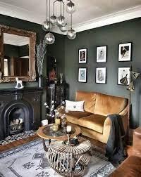 living room dark furniture color