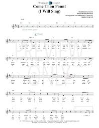 Come Thou Fount Chord Chart Come Thou Fount I Will Sing Lead Sheet Lyrics Chords