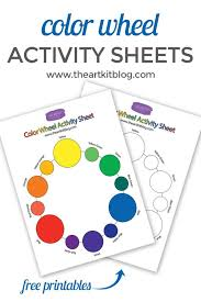 Students may color it with colored pencils, crayons, watercolor or markers. Color Wheel Activity Sheets Free Printable The Art Kit