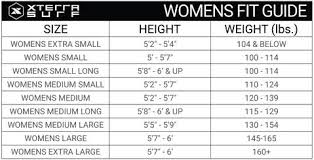 Size Guide Xterra Surf