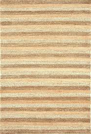 striped jute rug hand woven natural area black and white blue