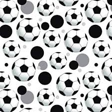 Football Pattern Simple Amazon Premium Gift Wrap Wrapping Paper Roll Pattern Soccer