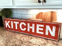 metal kitchen signs inch sign personalized antique