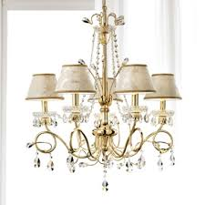 classic swarovski crystal gold damask chandelier