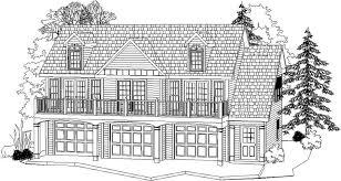 alp 096c 3 bay garage with apartment house plan