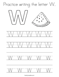 Writing The Letter W Worksheets for all | Download and Share ...