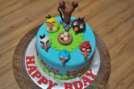 angry bird birthday cake round blue green bird and nest wonderful teal angry birds birthday cake decorating ideas with colorfull birds innovative