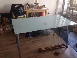 ikea galant desk glass