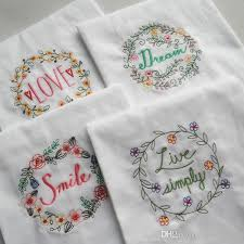 cotton table napkin hand made embroidered baby dinner kitchen towel upscale cloth napkins home decor hot 4 8sd f r personalized napkins wedding cloth