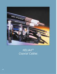 Heliax Cable Loss Chart Heliax Coaxial Cables