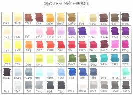 Splitcoaststampers Spectrum Noir Color Chart