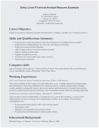 Credit Analyst Resume Example Entry Level Financial Analyst Resume Sample Terrific Credit Analyst