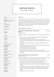 Sales Associate Resume Example Sales Support Associate Resume Writing Guide