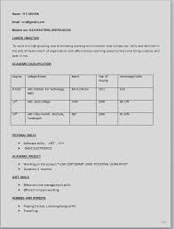 Ideas Collection Resume Format For Freshers Diploma Electrical