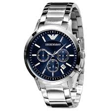 armani watches emporio armani designer watches ernest jones emporio armani men s stainless steel bracelet watch product number 8548935