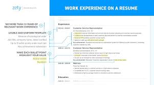 Resume Work Experience Format Cool Work Experience On A Resume Job Description Bullets That Kill [48]